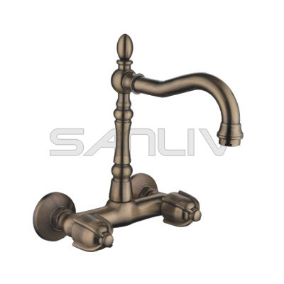 Wall Mounted Kitchen Mixer Faucet Bronze 83310YB
