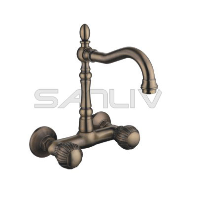 Sanliv Bronze Wall Mount Kitchen Sink Faucets83610YB