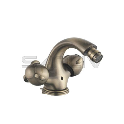 Two Handle Bronze Bidet Mixer Faucet 82602YB