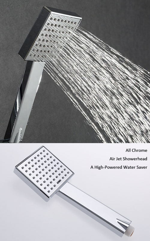 Water saving shower head with new air jet technology H839