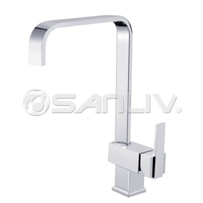 Square Single Handle Kitchen Faucet 67008