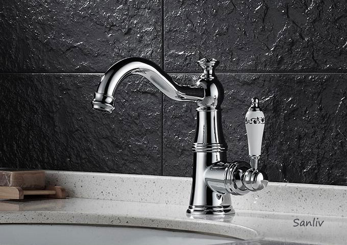 Bathroom Basin Faucet Brass Vessel Sink Water Tap Mixer Chrome