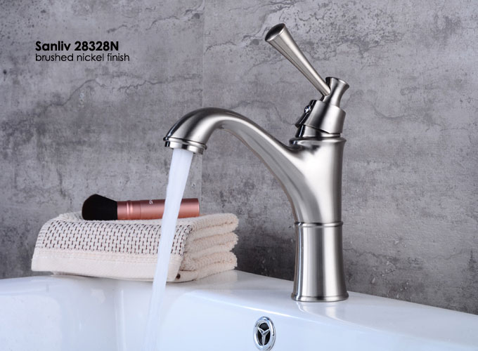 Brushed Nickel Bathroom Sink Faucet Basin Mixer Tap 28328N