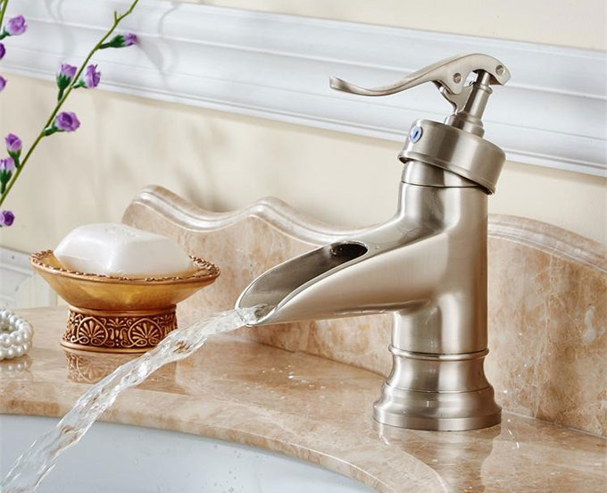 100 bronze waterfall bathroom faucet delta faucet 598lf rbm