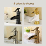 Brushed Nickel ORB Bronze Waterfall Bathroom Faucet Basin Mixer Tap