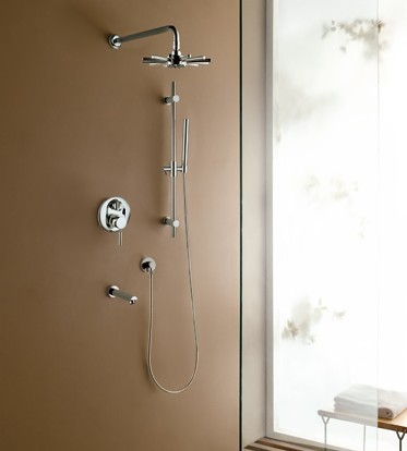 concealed bath shower mixer with rain shower and slide rail set a2699