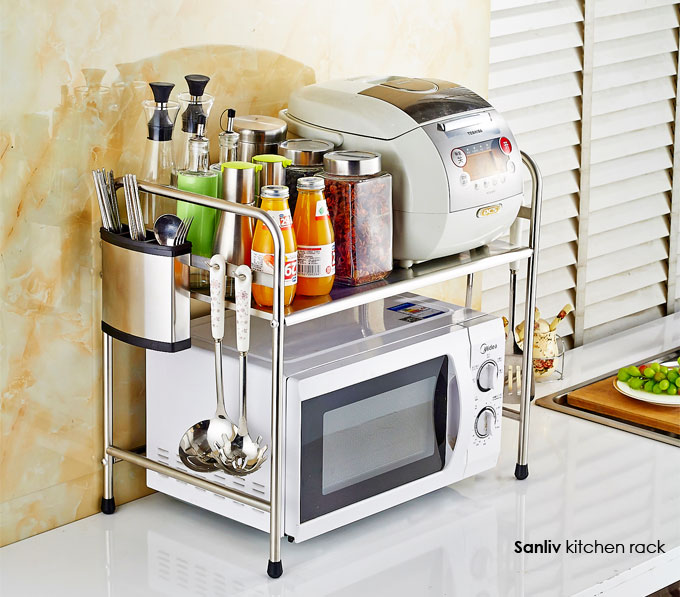 SS Kitchen Storage Rack: Microwave Stand 30201
