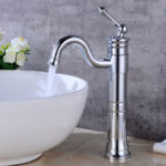 Tall Vessel Filler Bathroom Sink Faucet Basin Mixer Tap Chrome Bronze