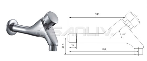 Self-closing delay tap faucet 20105