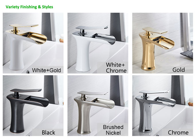 Waterfall Bathroom Faucet Basin Mixer Tap Styles