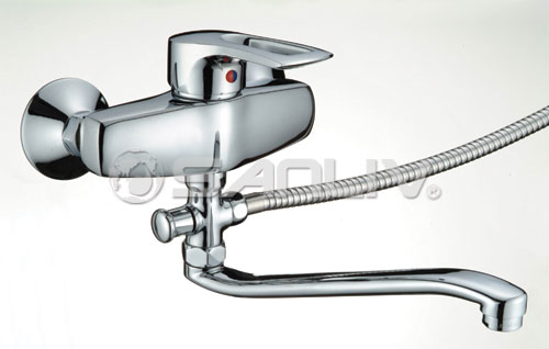 Bath Faucet with Diverter and Long Spout 62007