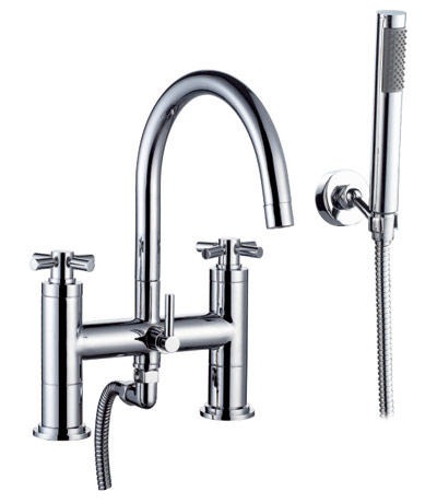 Bath Filler Tap With Hand Shower In Chrome