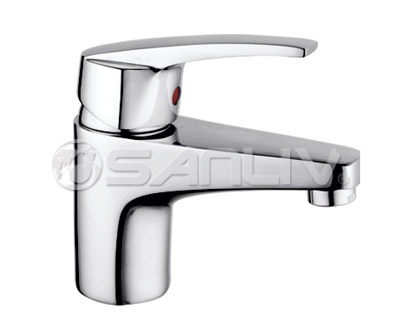 Sanliv Chrome Single-handle Bathroom Faucet 67801