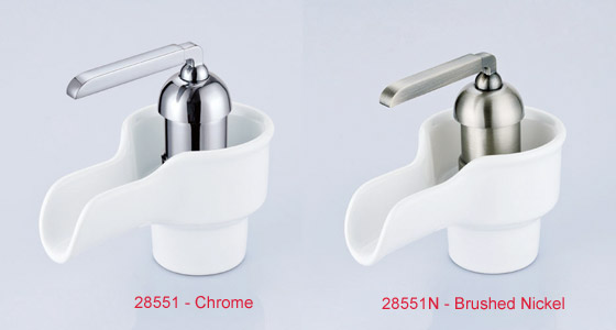Single Lever Modern Waterfall Ceramic Washbasin Tap 28551