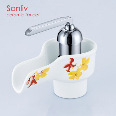 Single Handle Ceramic Bathroom Sink Faucet 28557