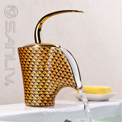 Modern Waterfall Ceramic Basin Mixer Tap 28503