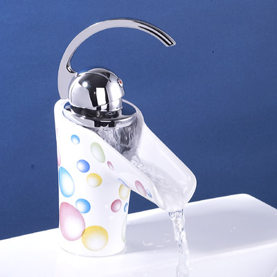 Ceramic Waterfall Bathroom Sink Faucet 28522