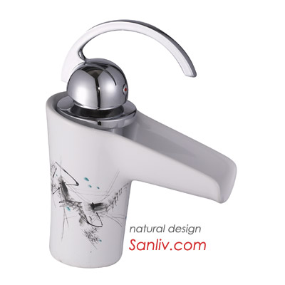 Single Lever Waterfall Ceramic Basin Faucet