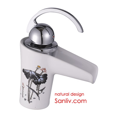 Single-Control Waterfall Ceramic Basin Faucet