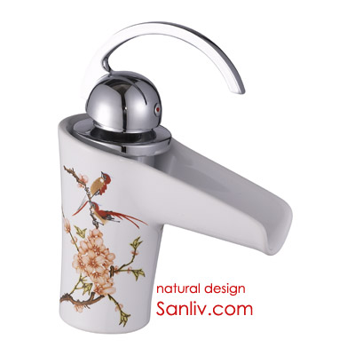 Single Lever Ceramic Waterfall Basin Mixer Tap