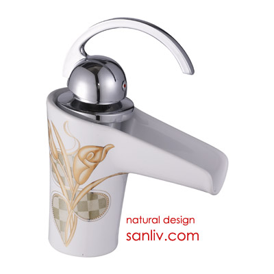 Single Handle Ceramic Waterfall Bathroom Basin Mixer Tap 28530