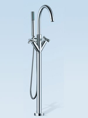 Floor Mounted Bath Shower Mixer Tap Faucet
