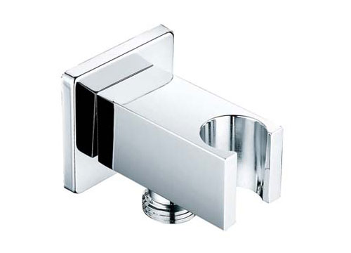 Square Shower Holder With Elbow Outlet S2413