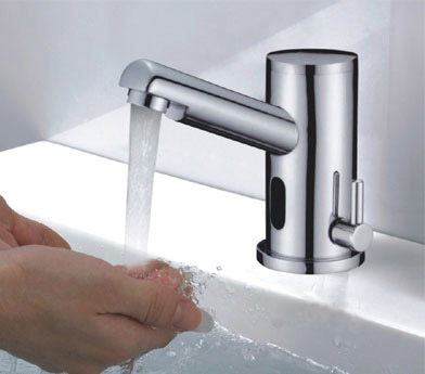 Electronic Hands Free Faucet with Hot/Cold Water Temperature Control