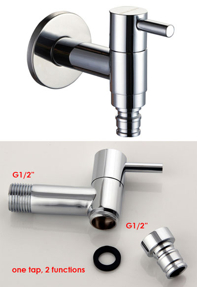 Wall Mounted bib tap or angle cock with Hose Union 10103