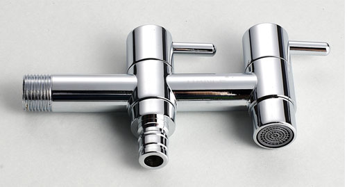 Chrome Bib Cock and Washing Machine Tap in One Faucet