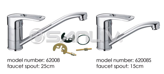 Single Handle Brass Kitchen Faucet 62008