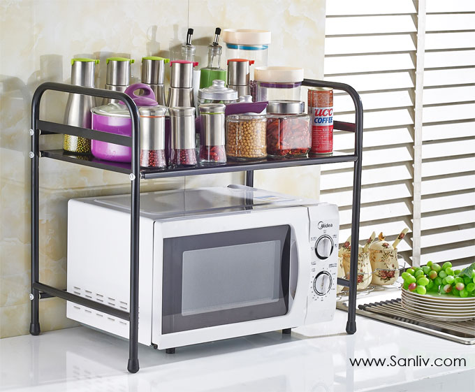 Sanliv Creative metal iron microwave shelf pot rack kitchen Spice Rack storage shelf photo