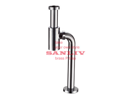 Chrome Basin Vanity Waste Pipe S Bottle Trap PT111