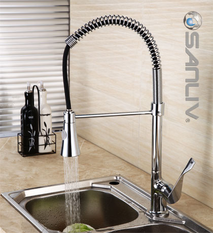 Pull down spray kitchen faucet 28112