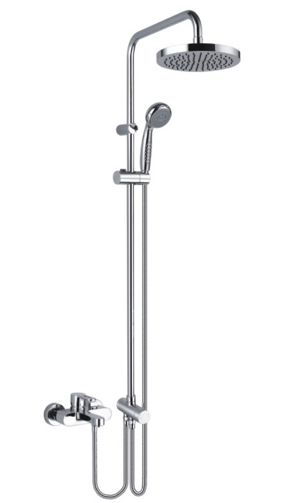 Bath Shower Mixer Faucet with showerpipe and rain showerhead
