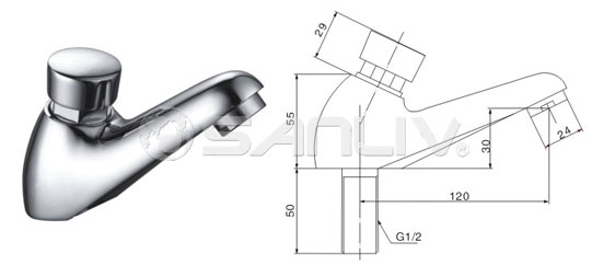 Self-closing Basin Tap Faucet 20107