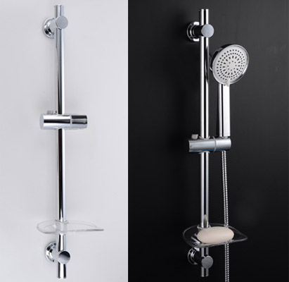 Showerhead Slide Rail Bar with Soap Dish B20