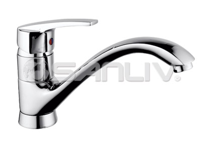 Single Lever Brass Kitchen Faucet 67881