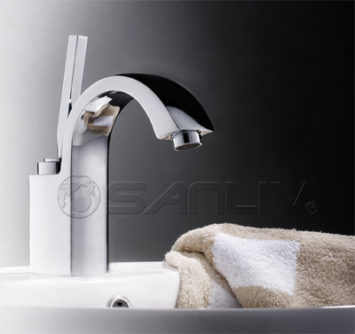 Single Handle Gooseneck Washbasin Mixer Tap