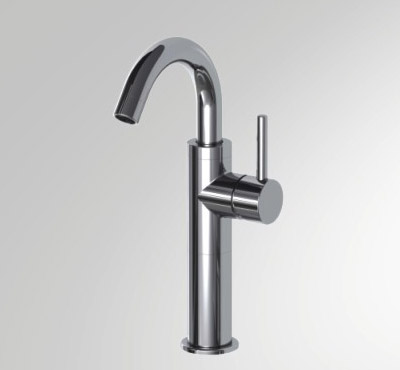 Single Hole High Arc Vessel Filler Bathroom Sink Faucet