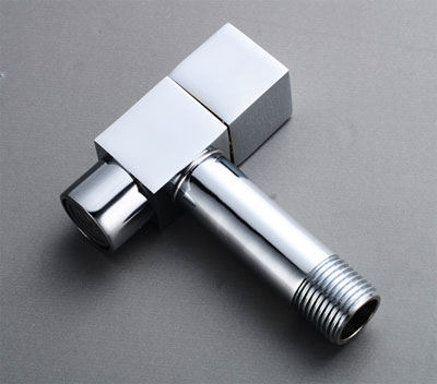 Square Chrome Plated Wall Mounted Single Bib Tap