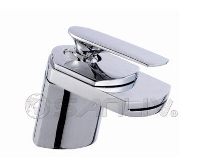 Waterfall Faucet Bathroom Sink Mixer Tap Chrome